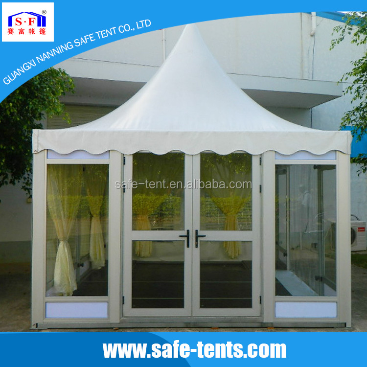 High quality low price party Fashion fireproof white PVC pagoda tent for sale