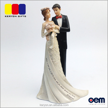 Wedding Gift Home Decoration Loving Resin Wedding Couple Figurine