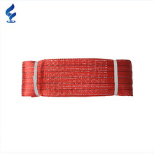 7:1 Polyester 5 Tonne Endless Type Lifting Competitive Price Flat Double Ply Webbing Sling For Lifting