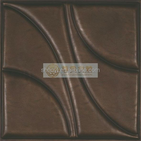 Eco-friendly beautiful interior decoration embossed PU panel
