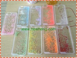 2015 Glitter love Liquid Cover Phone Case For iphone 6
