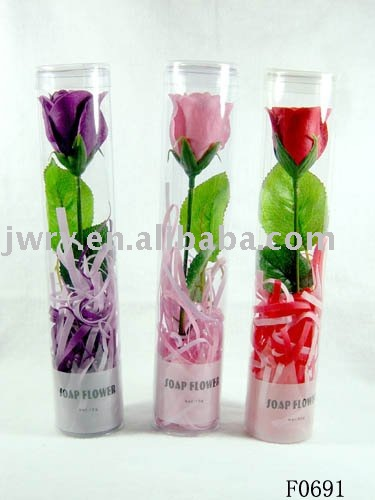 1pcs bouquet rose scented paper soap flowers in pvc box