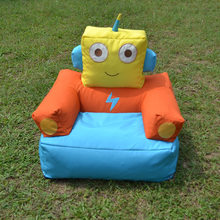 Lovely attractive robot kids bean bag chairs
