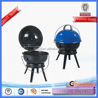 Easily assembled portable round table bbq