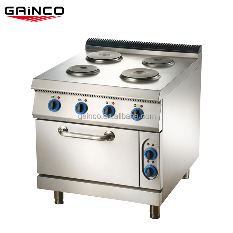 4-plate commercial electric cooking range