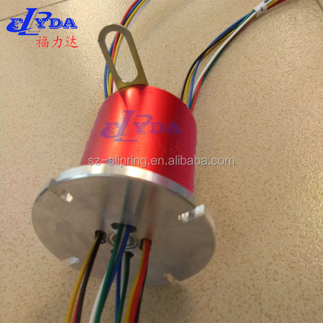 12 mm Through Bore Slip Ring with flange