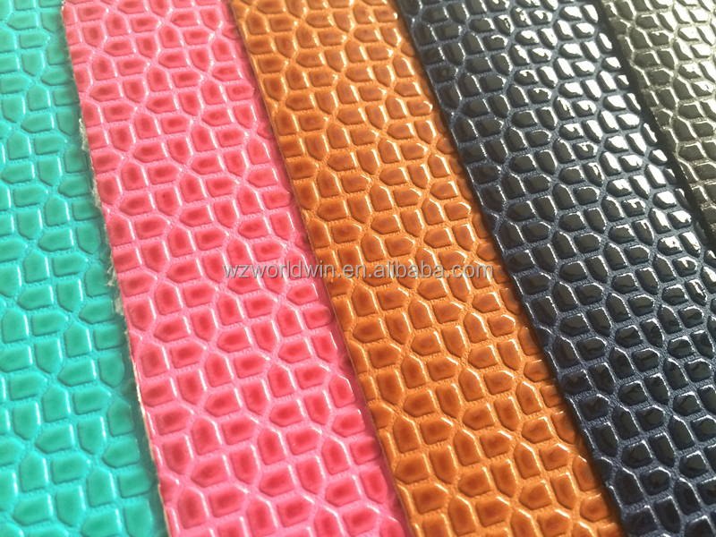 Fashion High gloss embossed stone design PU leather