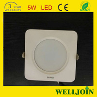 Cheapest Square Led Downlight 5w Square Size 90mm Cutout Size Dimmable Led Downlight