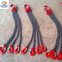 High Quality G80 Type Alloy Steel Adjustable 4 Legs Chain Slings