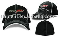 Cotton/Polyester flex fit/spandex baseball cap