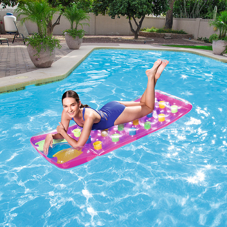 Bestway inflatable water mat air mattress beach pool water lounge pool float with pillow