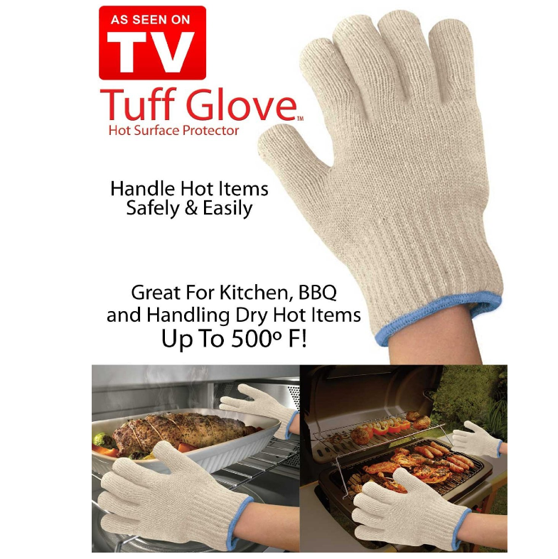 As seen on TV Hot Surface Protector Deluxe Handler 2-Pack New Ultra Thick Amazing Tuff Glove