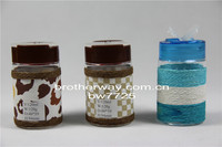 120ml decorative pepper and salt sauce spice glass bottles