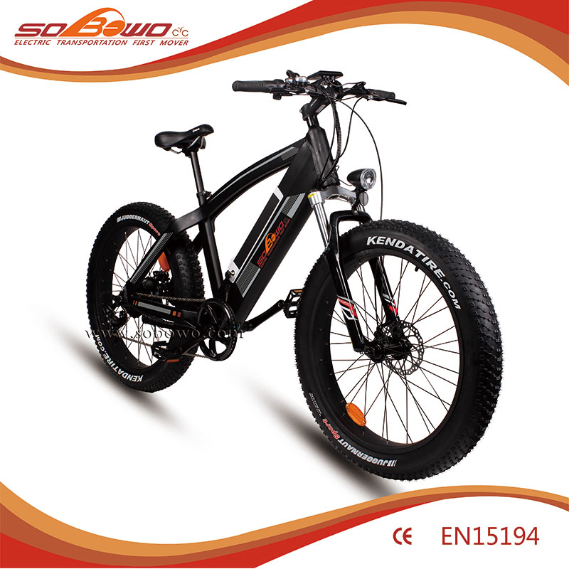 Fat Tire eBike, 48V 500W 8fun Bafang Mid-Drive Motor, Snow Electric bicycle with 48V 12A Down Tube Style