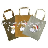 cotton tote bag Christmas Santa Claus