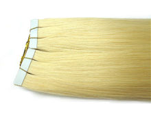 #613 Blond Russian 7A Human Hair Tape Weft Straight 2.5g/pc Bulk Hair Extension PU Skin Weft