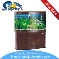 big size sunsun bending glass Aquarium for ornamental fish, with good quality and different size of fish tank