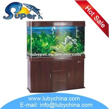 big size sunsun bending glass fish tank Aquarium for ornamental fish, with good quality and different size of fish tank