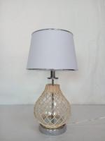 modern rattan&glass table lamp/Hong Kong Lighting Fair