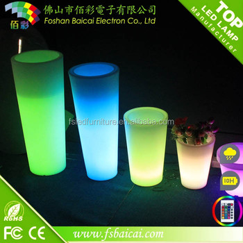 Outdoor decoration LED glowing garden vase