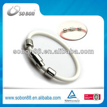 2012 best seller round rope silicone power extreme ion bracelets bangles