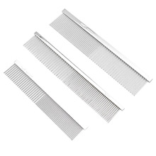 Pet Grooming Product Stainless Steel Dog Lice Comb for Tangled Hair