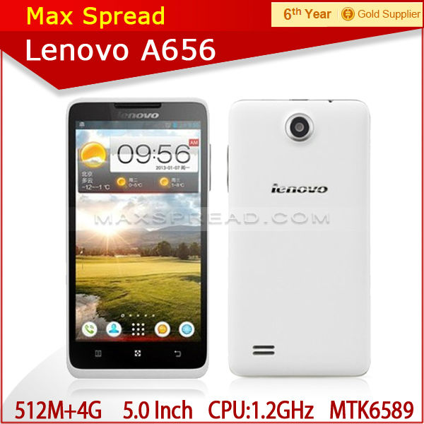 "Lenovo A656 mtk6589 5.0"" quad core 5.0MP 3G dual sim android handphone"