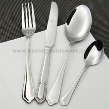 BS119# 18/0 stainless steel flatware;24 piece mirror polish flatware set; good quality types of hotel cutlery;