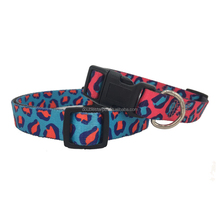 Two-side Heat Transfer Printing Leopard Pattern Nylon Pet Dog and Cat Collar