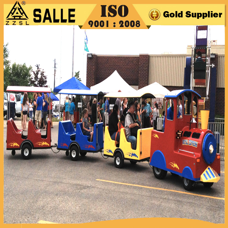 2016 newest attraction park equipment amusement kiddie rides trackless train for sale