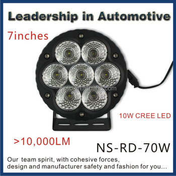 NSSC High Power 70w LED Work Light for Marine Offroad Mining Agriculture Machine and heavy duty