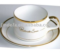 2013 new products porcelain 90cc golden coffee cup and saucer