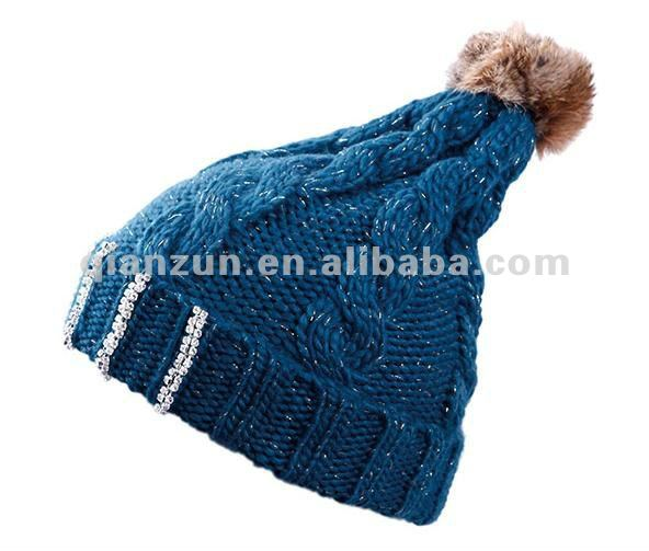Wholesale Custom Girl's Pom Jewish Knitted Hat