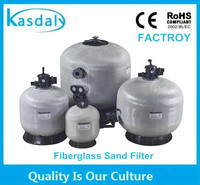 side mount automatic fiberglass sand filter tank for swimming pool water treatment