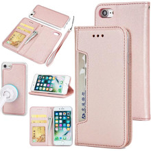 Multi function leather cell phone case for iphone 7 plus 7 6 plus 6 leather wallet case