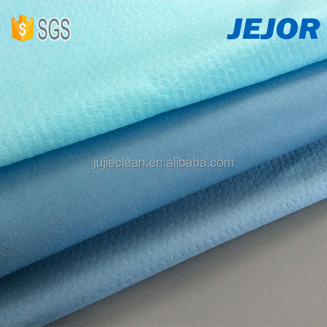 High performation 65gsm blue oil absorbent nonwoven fabric industrial wipes roll for house cleaning