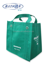 Hot sale eco foldable button non woven shopping bag