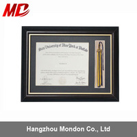 A4 natural distressed mdf A4 wood holding photo picture frame FSC certification