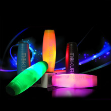 Customizable LOGO Desktop LED Round Sticks Relieve Pressure Fidget Stick Toy