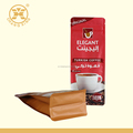 matte red aluminum foil 100g coffee bag with resealable zipper