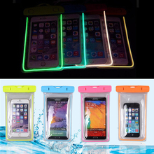 best price universal protective pouch glow in the dark ladies waterproof cell phone case cover for wholesale for iphone 7 plus
