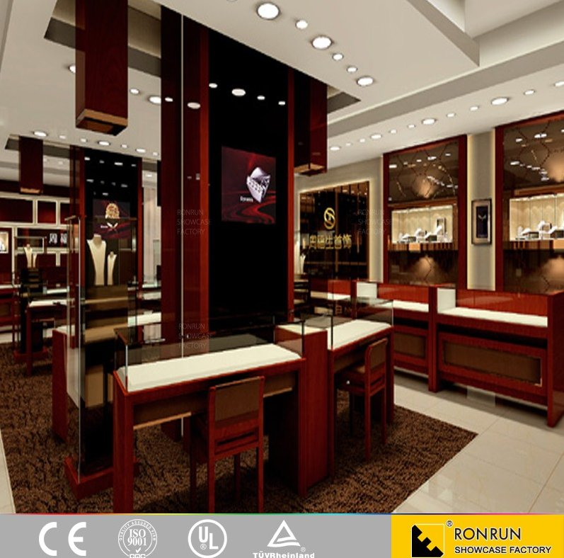 Jewelry wristwatches display cabinet showcase boutique furniture for shop design