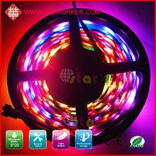 Factory Supplier WS2801 32LED/M RGB WS2801 Addressable Led Strip DC5V 10W IP65 From Ledworker