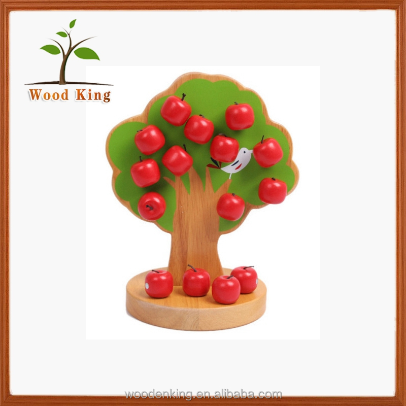 New Products On China Market Early Teaching Creative Magnetic Apple Tree Wooden Intelligence Educational Toys