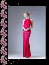 Red elegant Asian mother of bride evening dress top quality lace sleeveless party dress