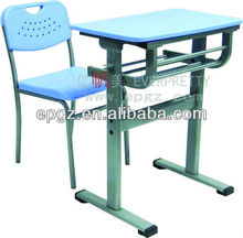 Plastic Single student desk and chair,Student study table and chair plastic,Plastic school table and seat for student