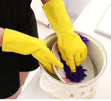 Household cleaning latex gloves, clothes washing dishes rubber waterproof gloves