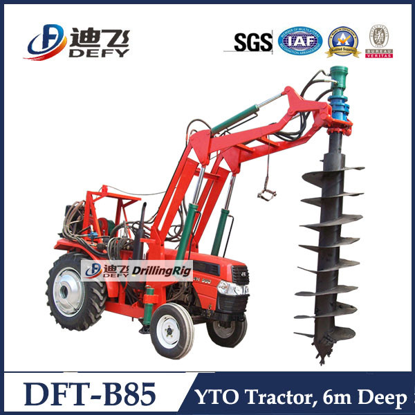 strong and durable DEFY DFT-B85 YTO tractor mounted used pile driver for sale