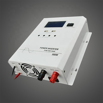 EPS-500W off grid Pure Sine Wave DC 12V  to AC 110V 220v 230V power inverter for solar home appliance