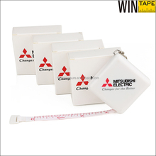 Keyring ABS Plastic Sewing Tape Measure Square Shape With Branded Mitsubishi Electric